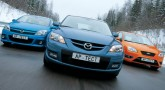 Растопить лед. Ford Focus ST, Mazda 3 MPS, Opel Astra OPC