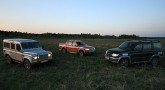 UAZ Patriot, Land Rover Defender, Ford Ranger.