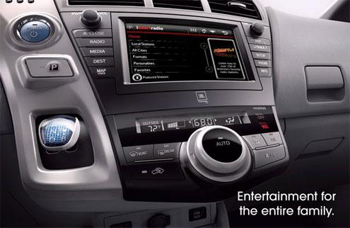 Интерьер нового минивэна Prius